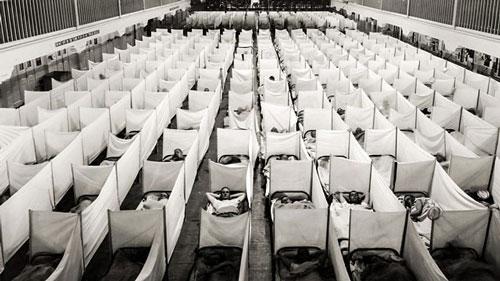 bệnh nhân được điều trị trong đại dịch cúm Tây Ban Nha
