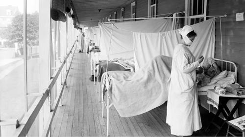 bên trong một bệnh viện quân đội Mỹ năm 1918